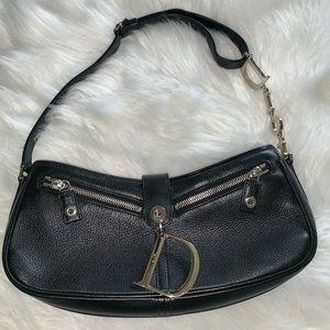 Christian Dior leather charm saddle bag